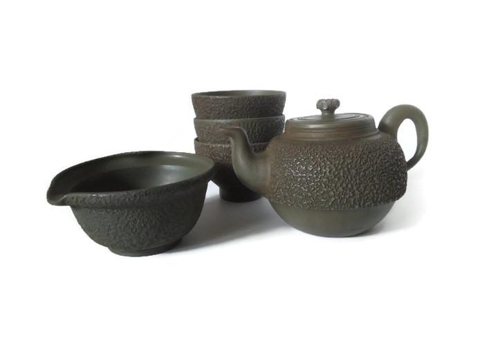 Ishime Ao bizen čajový set