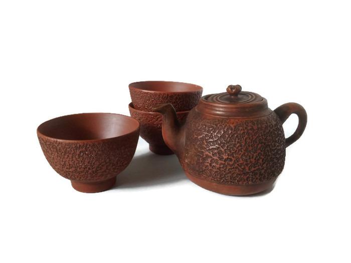 Keramika červený ishime bizen servis