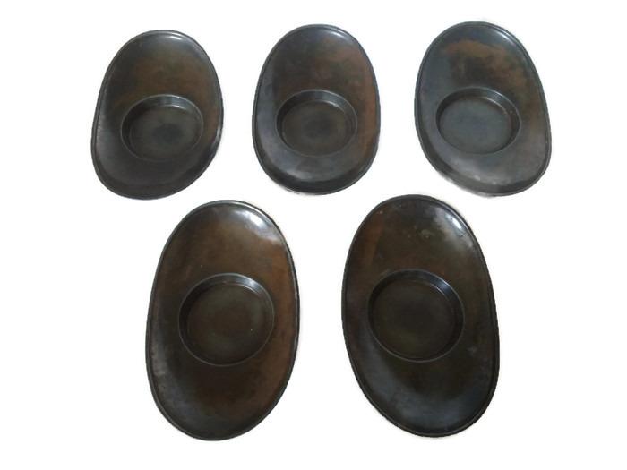 Japonské bronzové podšálky Chataku