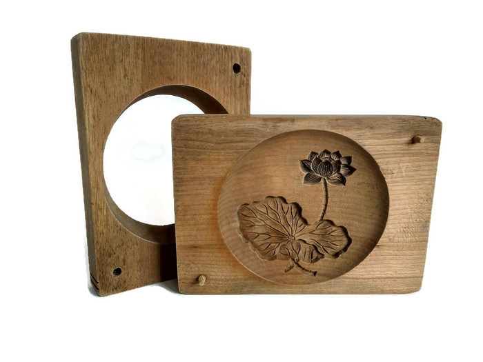 Kashigata forma ze dřeva plovoucí lotos